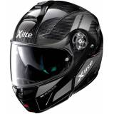 X-lite X-1004 Ultra Carbon Charismatic N-Com Klapphelm Schwarz Silber 2XL
