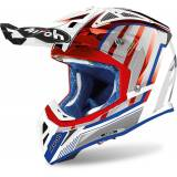 Airoh Aviator 2.3 Glow Motocross Helm Rot Blau XS