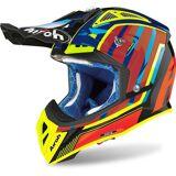 Airoh Aviator 2.3 Glow Motocross Helm Rot Gelb L
