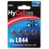 HyCell Alkaline Knopfzellen LR44 / LR1154 / AG13 Batterie - 4er Pack