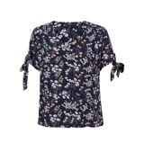 VERO MODA Kurzärmelige Bluse Lotus mit Blumenmuster