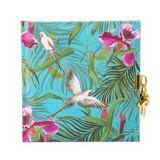Goldbuch Tagebuch Tropical Papagei