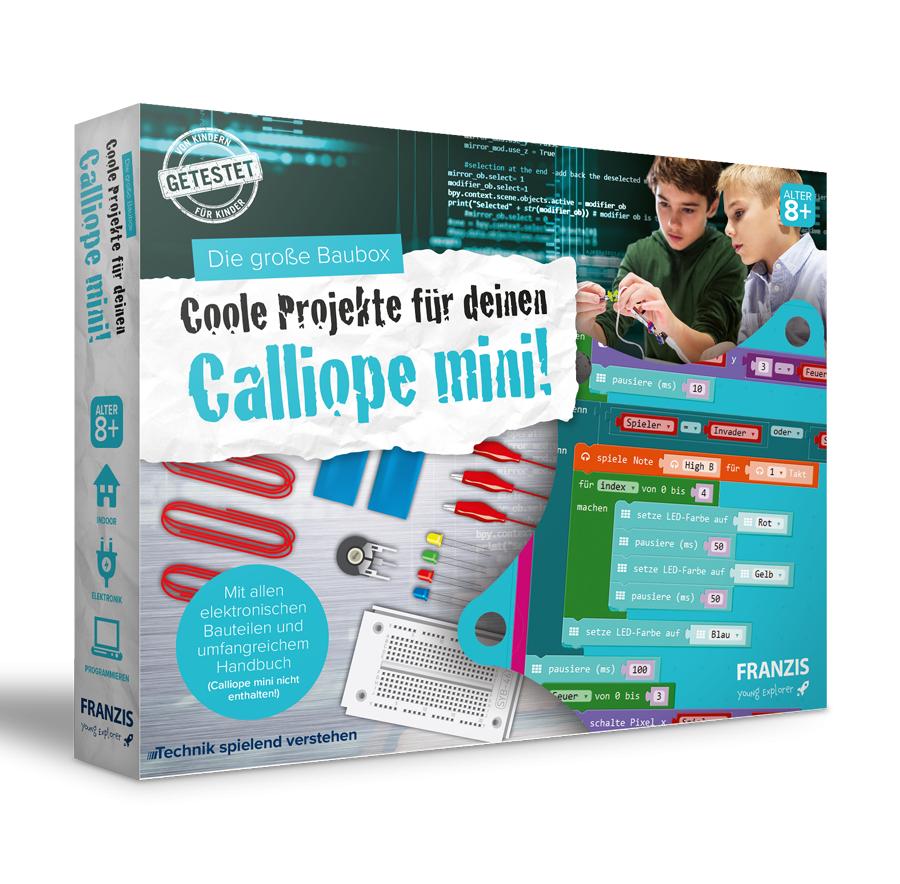 FRANZIS.de (ausgenommen sind Bücher und E-Books) Die große Baubox - Coole Projekte für deinen Calliope mini