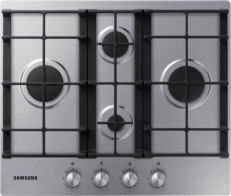 Samsung NA64H3010BS 60cm Gas Kochfeld mit Gusseisen Roste 9,6 KW