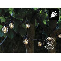 dancover led-lichterkette starter-set, lucas, 3m, schwarz/klar/warmweiß