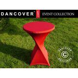 Dancover Stretch Tischüberzug Ø80x110cm, Rot