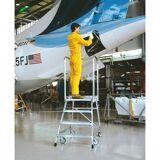 ZARGES Fahrbare aluminiumplattformleiter - 3 stufen, 0,7 m