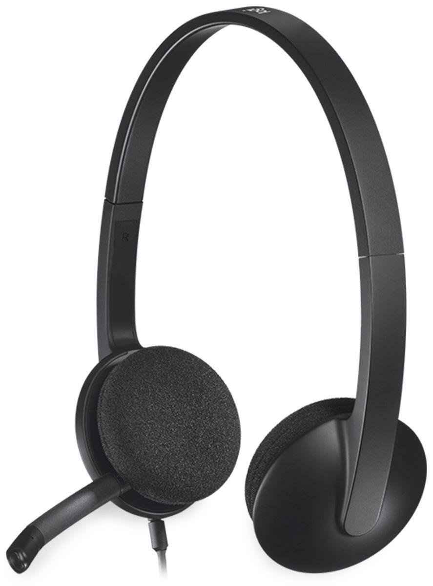 Logitech Headset LOGITECH H340, USB, Stereo, schwarz