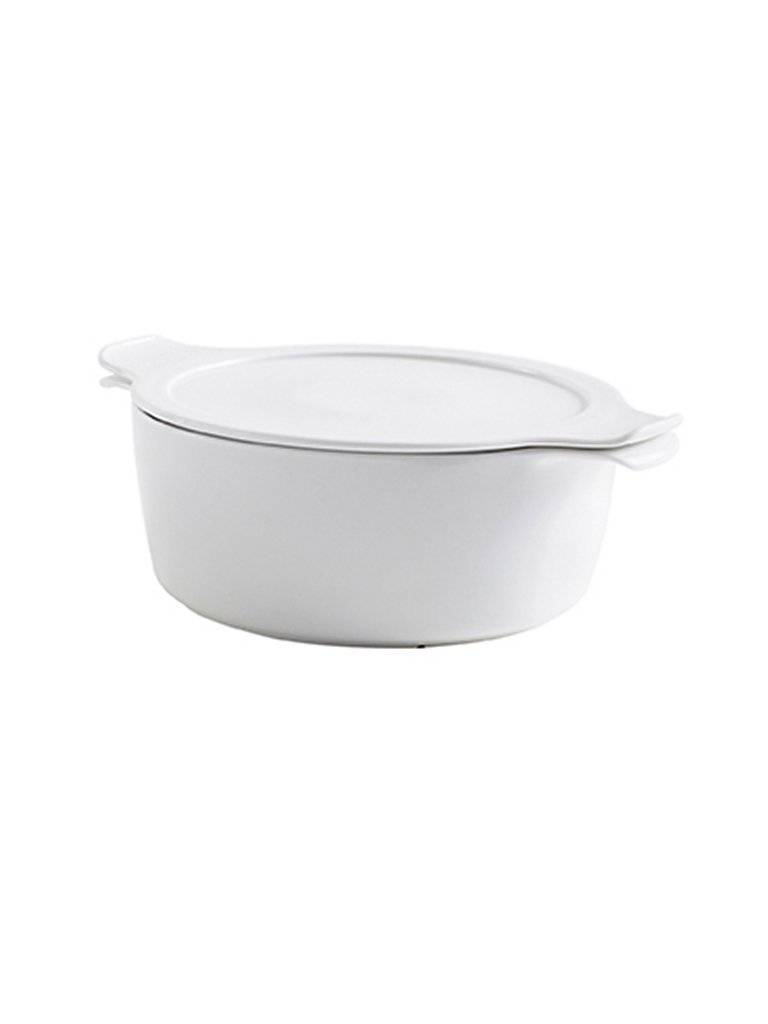 ESCHENBACH Topf mit Deckel Cook and Serve 16cm/1l (Weiss) weiß