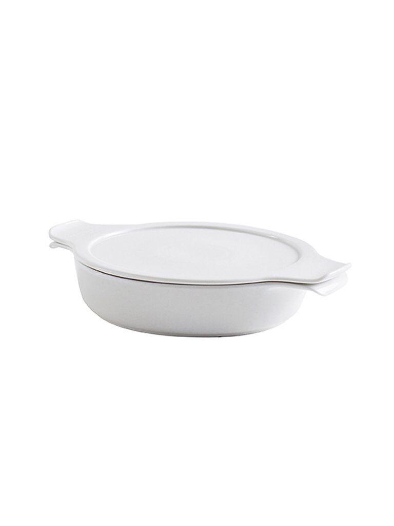 ESCHENBACH Topf flach mit Deckel Cook and Serve 24cm/1,2l (Weiss) weiß