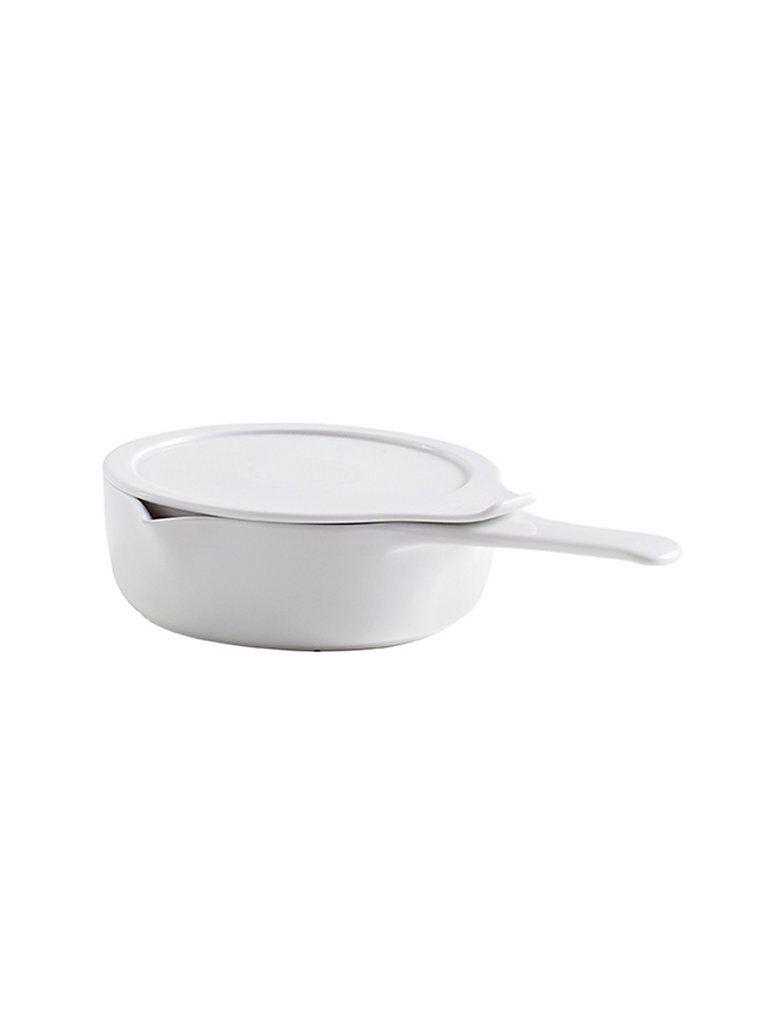 ESCHENBACH Kasserolle mit Deckel Cook and Serve 16cm/0,75l (Weiss) weiß