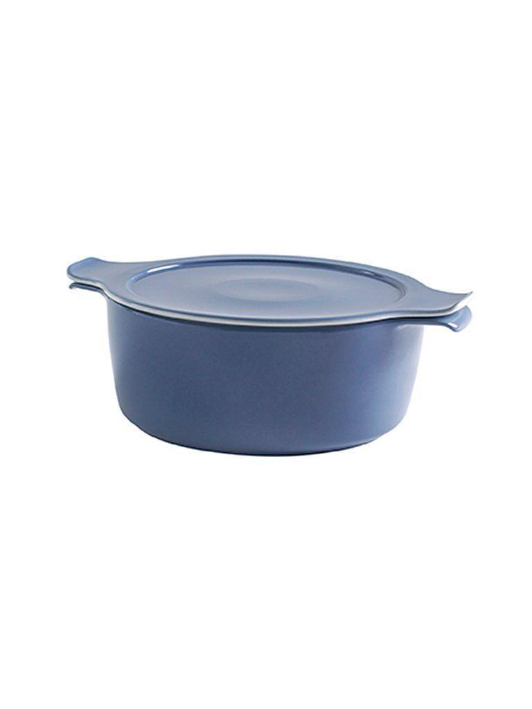 ESCHENBACH Topf mit Deckel Cook and Serve 16cm/1l (Graublau) blau