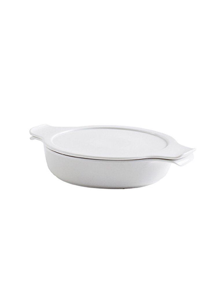 ESCHENBACH Topf flach mit Deckel Cook and Serve 18cm/0,6l (Weiss) weiß