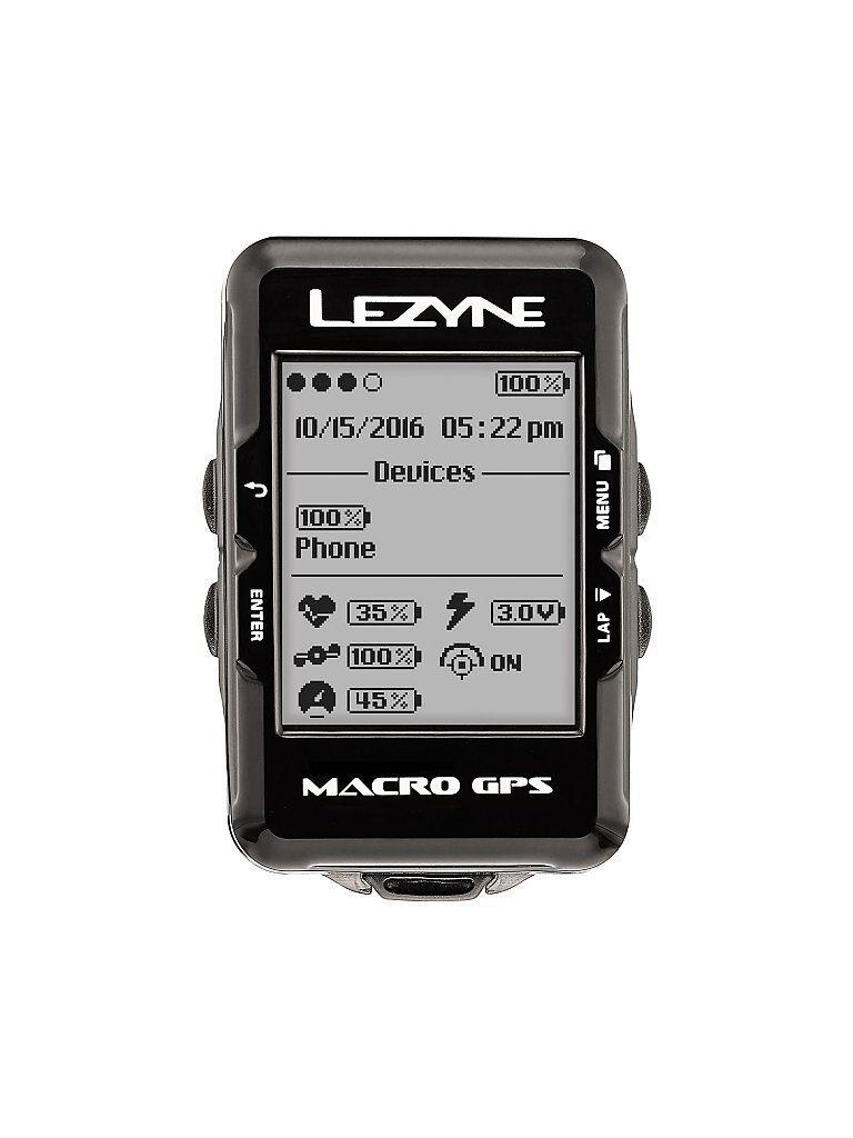 LEZYNE Fahrrad-Computer Macro GPS schwarz