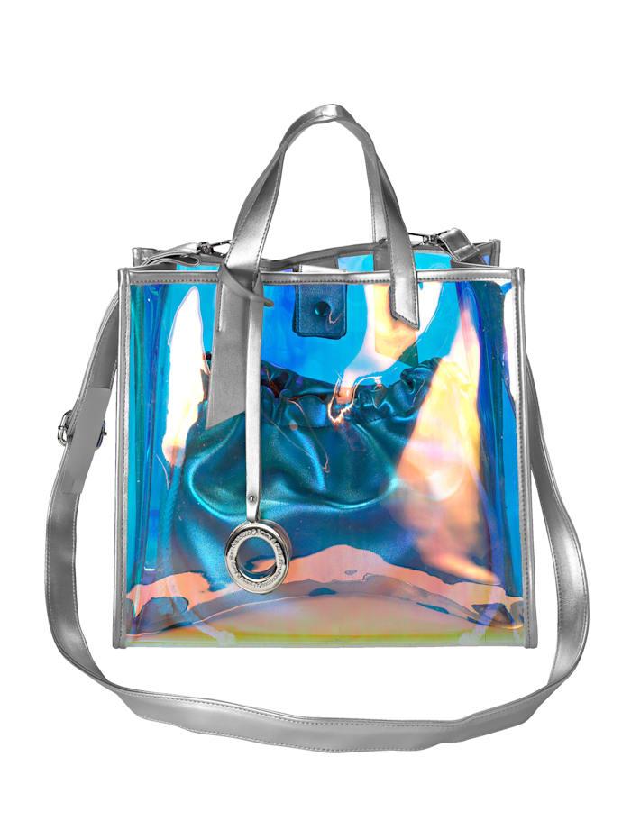 Emma & Kelly Handtasche mit abnehmbarem Emma & Kelly-Anhänger, silber