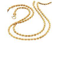 albamoda.de 2tlg. schmuck-set in gelbgold, gold