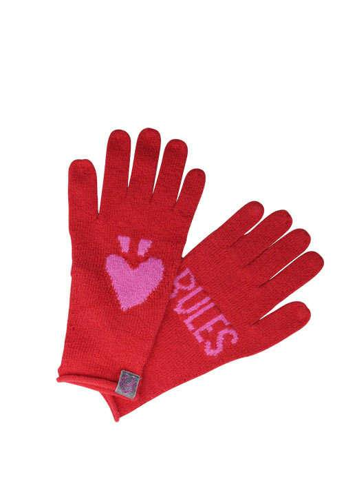 LIEBLINGSSTÜCK Handschuhe VRONIL Strick Logo-Intarsien rot/rosa