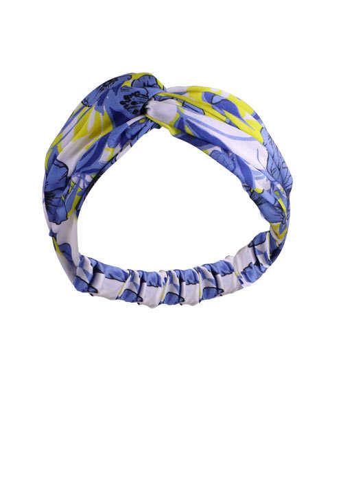Rich & Royal RICH&ROYAL Haarband Allover Druck Knoten Gummizug blau/gelb/ecru