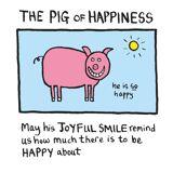 Edward Monkton Kunstdruck - Pig of Happiness