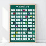 Gift Republic 100 Dinge zu tun Löffelliste Poster