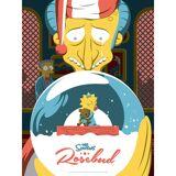 Acme Archives The Simpsons Rosebud Variant Siebdruck Print von Florey (45 x 60 cm) Limitiert auf 100 Auflagen - Zavvi UK Exklusiv