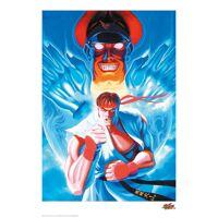zavvi gallery street fighter gilcee-kunstdruck in limitierter auflage - nur für kurze zeit erhältlich