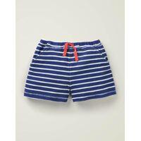 mini schuluniform-navy/naturweiß frottee-shorts damen boden, 146 (11j), blue