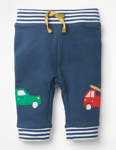 Baby Lagunenblau, Autos Hose mit appliziertem Aufnäher Jungen Boden, 62, Blue