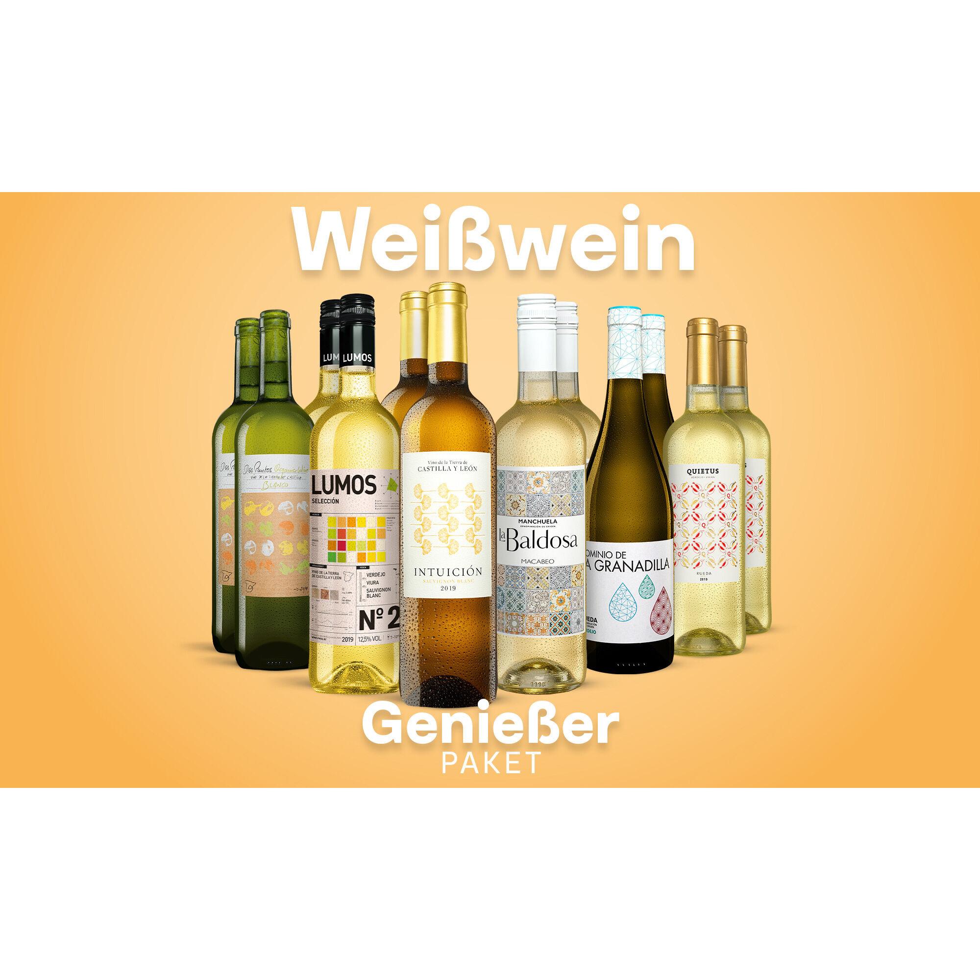 Weißwein-Genießer-Paket Weinpaket  aus Spanien