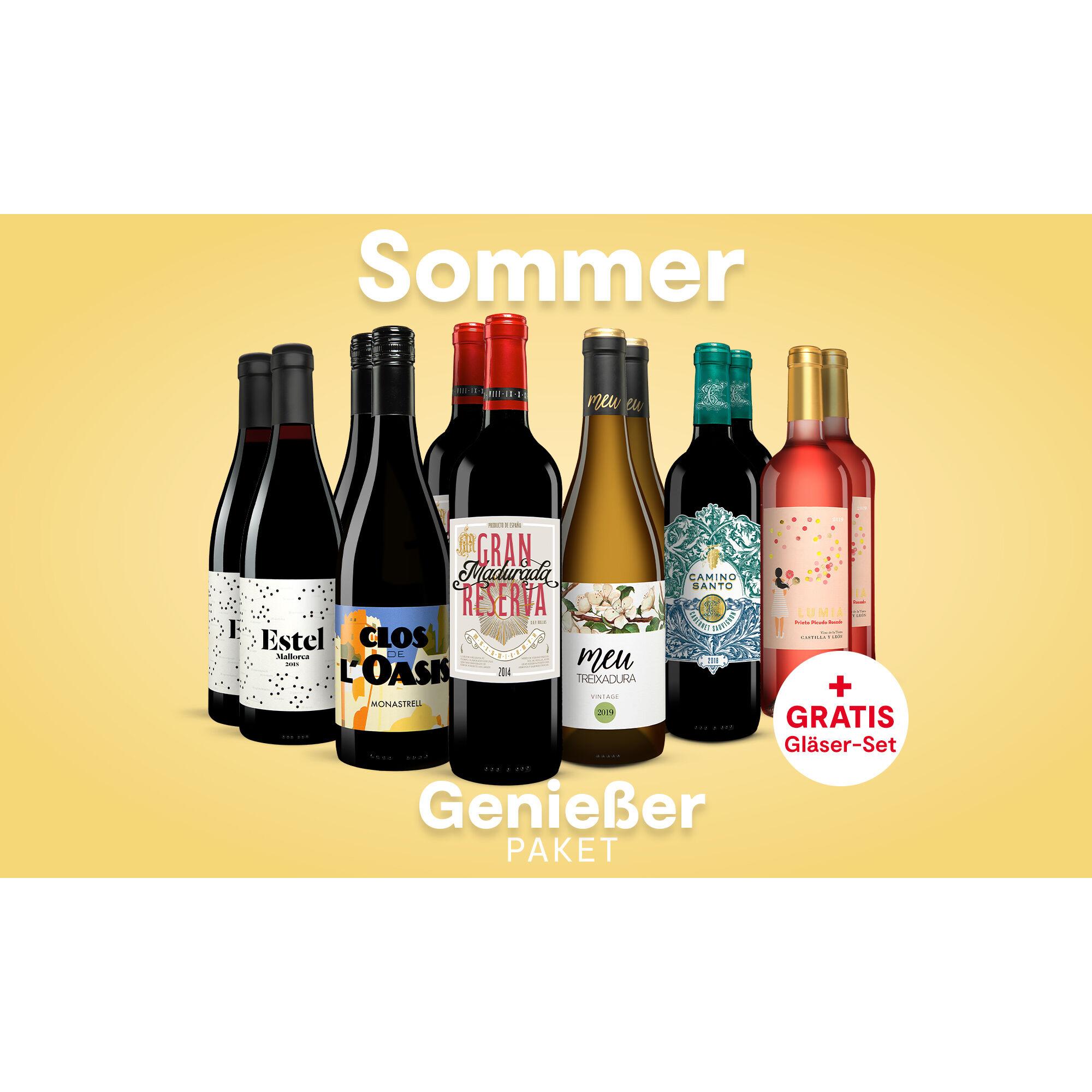 Sommer-Genießer-Paket Weinpaket  aus Spanien
