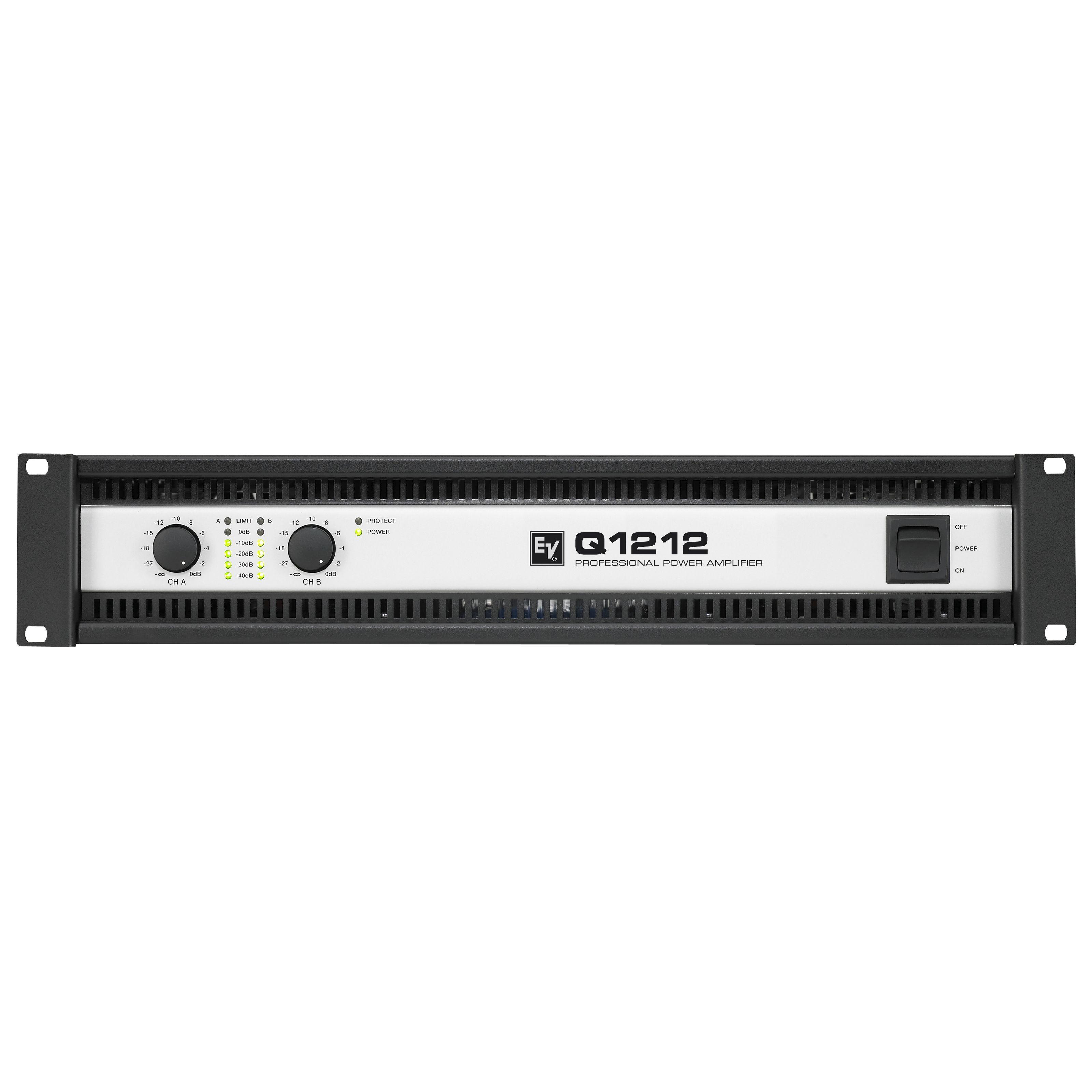 Electro Voice - Q1212 Endstufe, 2x 1200 Watt / 4 Ohm