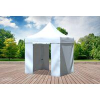 stabilezelte faltpavillon alu 2x2 m professional weiß wasserdicht faltzelt