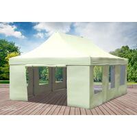 stabilezelte faltpavillon alu 4x6 m professional beige wasserdicht faltzelt