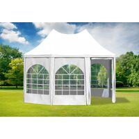 stabilezelte pavillon 3x4,1m weiß pvc pagodenzelt arabica profi wasserdicht