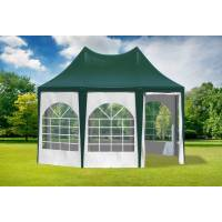 stabilezelte pavillon 3x4,1m grün / weiß pvc pagodenzelt arabica profi wasserdicht