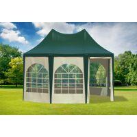 stabilezelte pavillon 3x4,1m grün / beige pvc pagodenzelt arabica profi wasserdicht