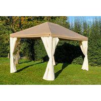 stabilezelte pavillon 3x4m braun polyester gartenpavillon sahara wasserdicht