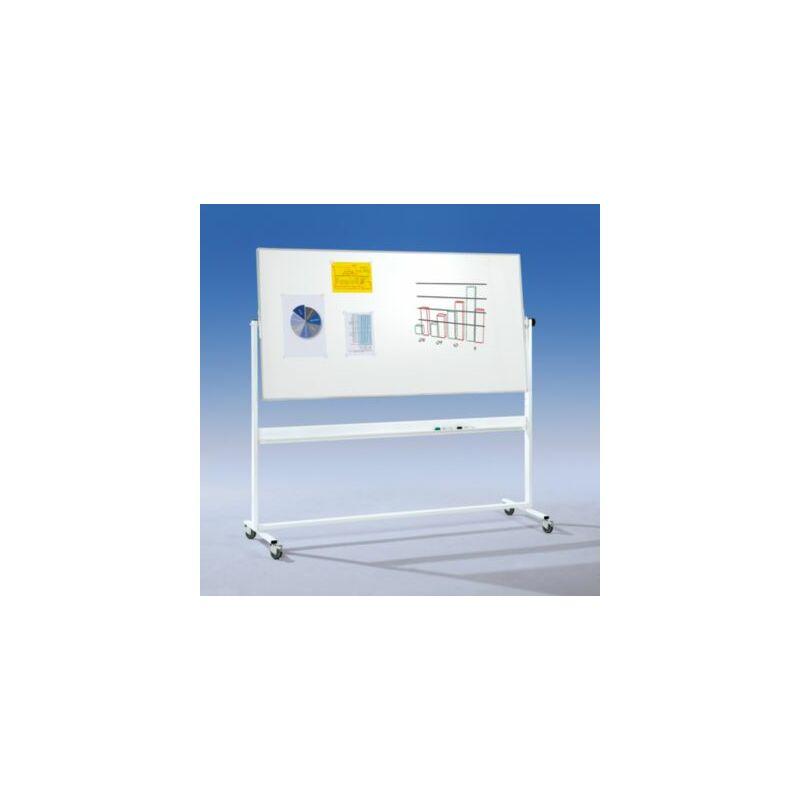 EUROKRAFTPRO Smit Visual Whiteboard   Magnetisch   Weiß lackiert   BxH 1800 x 1000