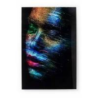 kare glasbild 120 x 80 cm face the world profil bunt glas