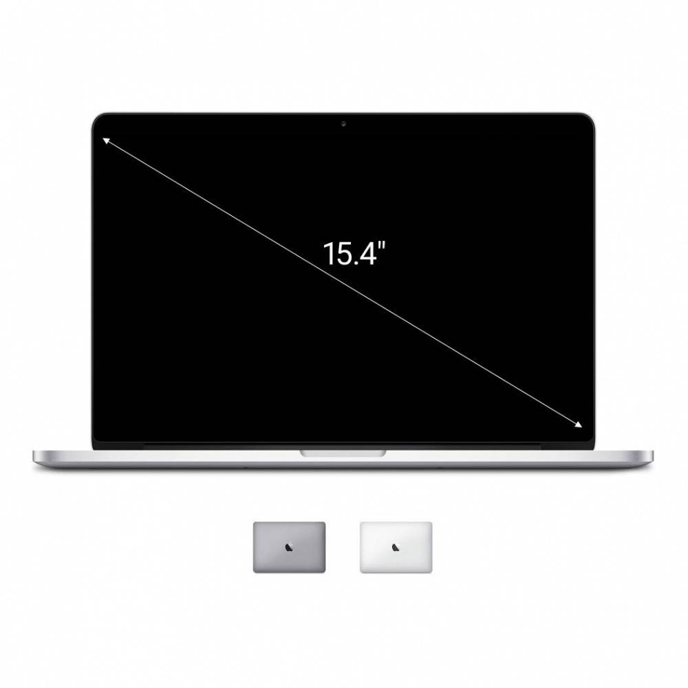 Apple Gebraucht: Apple Macbook Pro 2014 15,4'' mit Retina Display Intel Core i7 2,50 GHz 512 GB SSD 16 GB silber