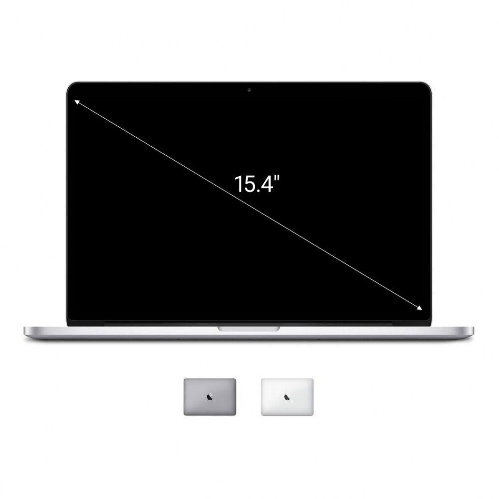 Apple Gebraucht: Apple Macbook Pro 2014 15,4'' mit Retina Display Intel Core i7 2,20 GHz 256 GB SSD 16 GB silber