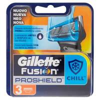 gillette fusion klingen proshield chill-3 pieces