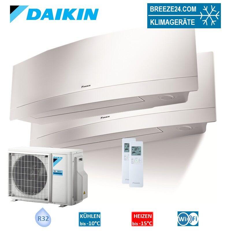 Daikin Klimaanlage Wandgerät Emura R32 FTXJ20MW + FTXJ35MW + Außengerät 2MXM50M9 Set