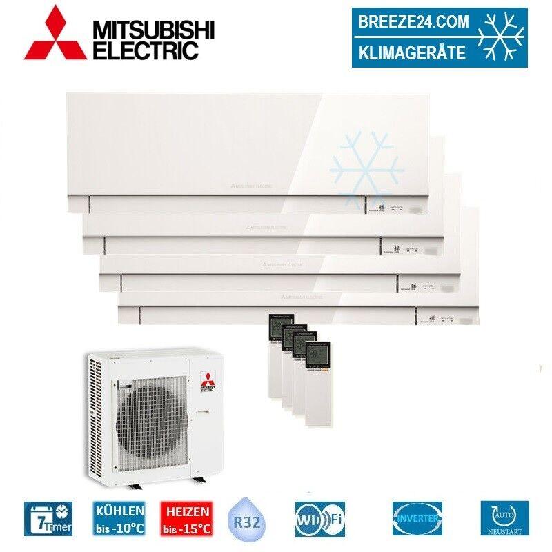 Mitsubishi Electric Klimaanlage Wandgerät Premium R32 4 x MSZ-EF25VGKW + Außengerät MXZ-5F102VA Set