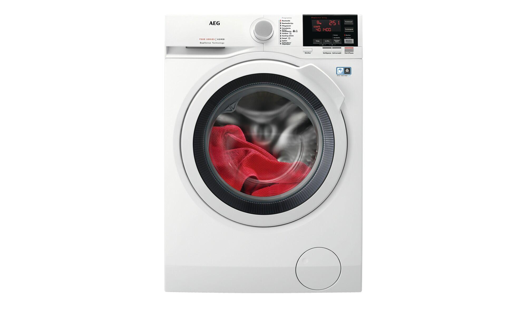 AEG Waschtrockner  L7WB65684 ¦ weiß ¦ Glas , Kunststoff, Metall-lacki