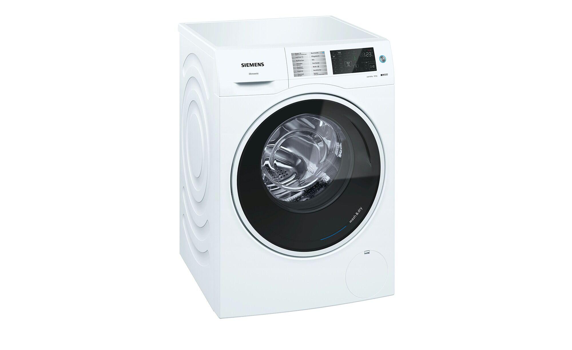 Siemens Waschtrockner  WD14U540 ¦ weiß ¦ Kunststoff, Metall-lackiert