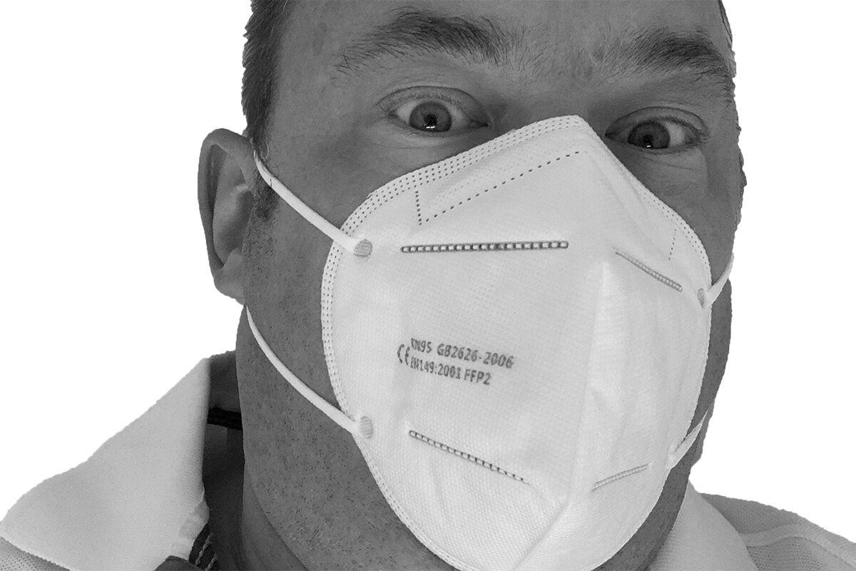 FFP2 Atemschutzmaske erfüllt Anforderung Robert-Koch-Institut im...