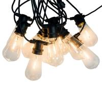 connox collection - led lichterkette indoor/outdoor (ip 44), 10 lampen oval, kabel schwarz