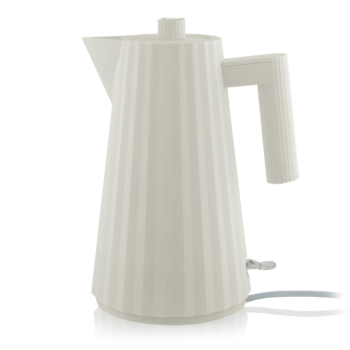 Alessi - Plissé Wasserkocher 1,7 l, weiß