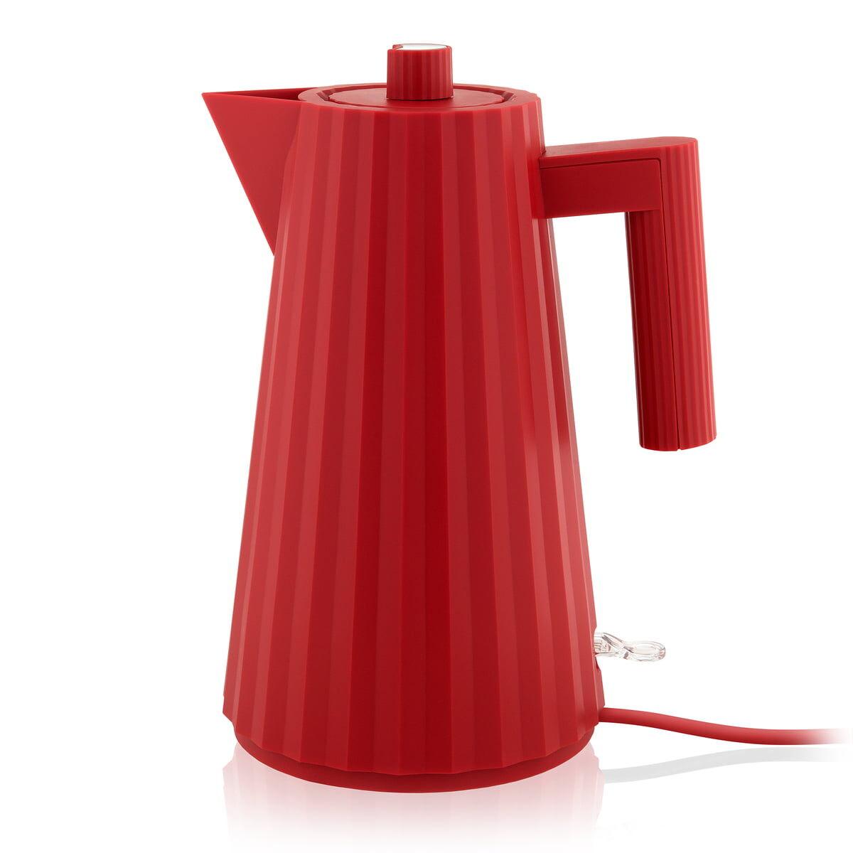 Alessi - Plissé Wasserkocher 1,7 l, rot